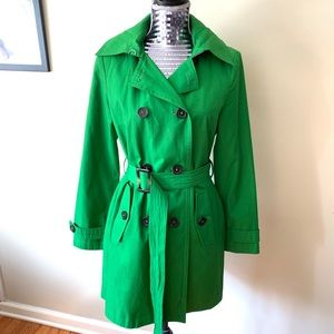 Michael Kors Green Trench Rain Coat